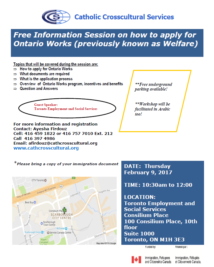 Catholic Crosscultural Services Free Information Session